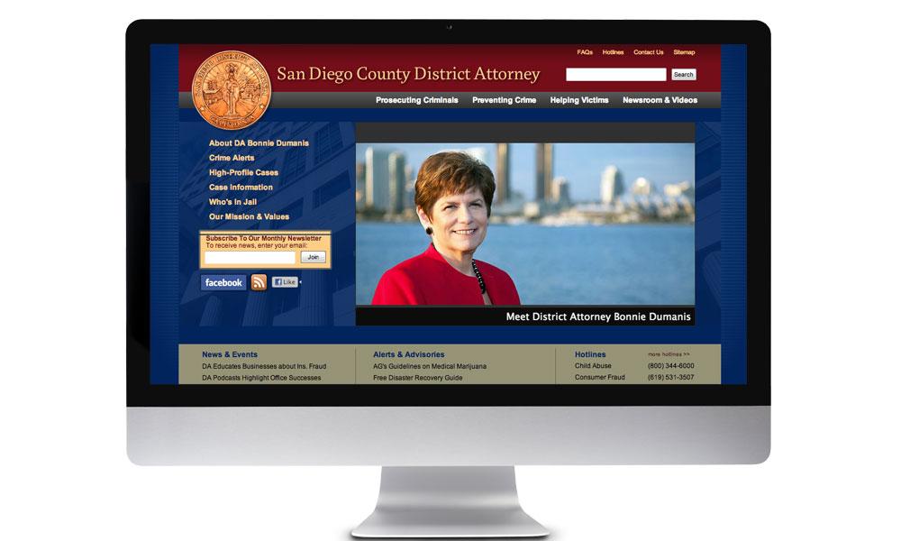 San Diego District Attorney Website - BrainShine